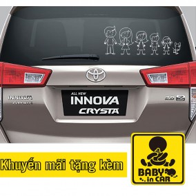 Decal in Car My family
